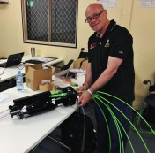 Noel in class with NBN equipment